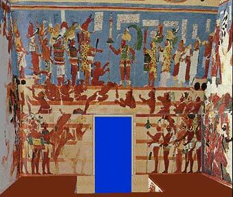Online study guide for Bonampak mural painting