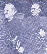 Allgemeine Carpenter mit seinem Agenten und Dolmetscherin Brigadier Erik Wickberg