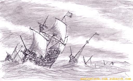 bärgat skepp korsord